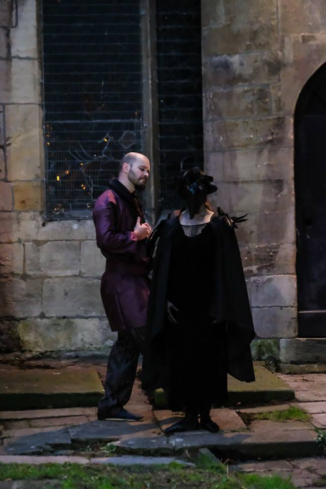 Catherine Frowd stars in Moth Sanctuary Productions 'Edgar Allan Poe: Master of the Macabre' at Cheltenham Literature Festival 2016.