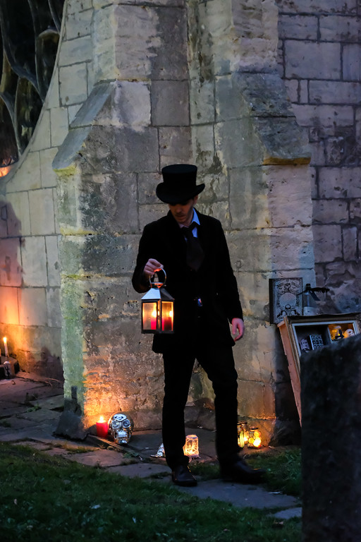Andrew Bate stars in Moth Sanctuary Productions 'Edgar Allan Poe: Master of the Macabre' at Cheltenham Literature Festival 2016.